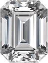 Moissanite in Forever One Near Colorless Emerald Step Cut