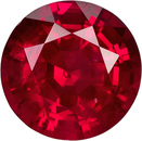 Vibrant Red Ruby Loose Mozambique Gem in Round Cut, 6.1 mm, 1.06 Carats