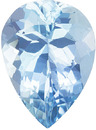 Rich Blue Aquamarine Brazilian Origin Natural Gemstone in Pear Cut, 9.7 x 7 mm, 1.5 Carats