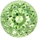 Super Lively Green Garnet Gem in Large Round Cut, Mint Green, 7.8 mm, 2.36 carats