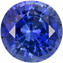 Bright & Lively Sapphire Loose Gemstone in Round Cut, Rich Blue, 5.9 mm, 1.04 carats