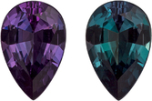 Burgundy Eggplant to Teal Blue Alexandrite Genuine Gem in Pear Cut, 7.2 x 4.8 mm, 0.61 Carats