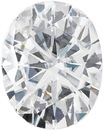 Forever One Moissanite Colorless Oval Cut