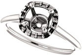 Cushion Halo Solitaire Engagement Ring Mounting for 5.00 mm - 9.00 mm Center - Customize Metal, Accents or Gem Type