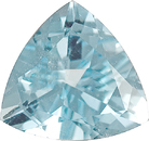 Eye Clean Trillion Cool Blue With Grey Undertones Aquamarine, 9.2 mm, 1.87 carats