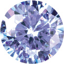 PURPLE CUBIC ZIRCONIA Round Cut Gems - Calibrated