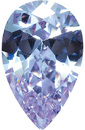 PURPLE CUBIC ZIRCONIA Pear Cut Gems - Calibrated