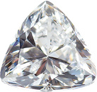Quality Loose Genuine Faceted Colorless Cubic Zirconia in Trillion Shape Sized 3.00 mm