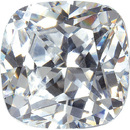 WHITE CUBIC ZIRCONIA Antique Square Cut Gems