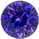 Fiery Sapphire Loose Gemstone in Round Cut, Violet Purple, 6.7 mm, 1.76 carats
