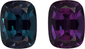 Burgundy Eggplant to Blue Green Alexandrite Genuine Gem in Cushion Cut, 6 x 4.6 mm, 0.82 Carats