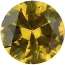 Imitation Citrine Round Cut Gems