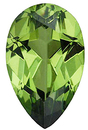Imitation Peridot Pear Cut Gems