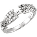 Lovely 3/8ctw Diamond Accented Decorative Ring Shank for Peg Setting in 14kt Gold