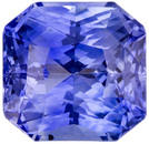 Rare Gem in Radiant Blue Sapphire Stone in Gorgeous Cornflower Blue Color, 7.7 x 7.5 mm, 2.95 carats