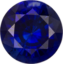 Rich Vibrant Blue Sapphire from Madagascar Loose Gem in Round Cut, 6.5 mm, 1.31 Carats