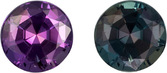 Vibrant Teal to Burgundy Eggplant Brazilian Alexandrite Loose Gem in Round Cut, 4 mm, 0.29 Carats