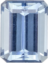 Vibrant Blue Aquamarine from Brazil Natural Gemstone in Emerald Cut, 7.9 x 6 mm, 1.61 Carats