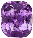 3.20 Carat GIA Certified Amethyst Colored Sapphire Loose Gem in Cushion Cut, Rich Purple Color, 9.3 x 7.97 x 5.07 mm
