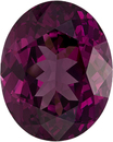 Vibrant Wine Purple Rhodolite Special African Gem in Oval Cut, 14.3 x 11.6 mm, 10.31 Carats