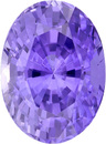 Periwinkle Color Sapphire GIA No Heat Gem in Oval Cut, Gorgeous Lavender Color, 7.3 x 5.3 mm, 1.39 Carats - With GIA Certificate - SOLD