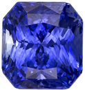 Deal on Gorgeous Rich Blue Loose Sapphire Gemstone in Radiant Cut, 7.8 x 7.2 mm, 3.07 carats