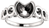 Chic Accented Engagement Ring Mounting For Round Shape Centergem Sized 4.80 mm to 9.40 mm - Customize Metal, Accents or Gem Type
