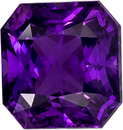 Unheated Vivid Purple Sapphire Unheated GIA Certified Gem in Radiant Cut, 6.83 x 6.44 x 4.86 mm, 2.14 carats