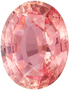 Rare Padparadscha Sapphire GIA Certified Gem Oval Cut, Vibrant Orangy Pink Color in 7.47 x 5.91 mm, 1.31 Carats - With GIA Certificate