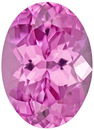 Super Lively & Bright Spinel Loose Gem in Oval Cut, Intense Neon Pink, 7.8 x 5.6 mm, 1.26 carats