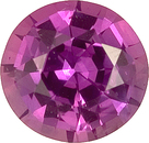 Exceptional Large Sized Madagascar Purple Sapphire Loose Gemstone - Stunning Color, Lively Gem, Round Cut, 2.39 carats