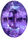 Color Change Violet/Blue Sapphire Gemstone, Piqued but Very Lively, Oval Cut, 2.76 carats