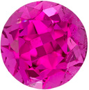 Hot Pink Round Cut Tourmaline Loose Gem in Rich Hot Pink Color, 7.6 mm, 2.12 carats
