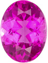 Loose Hot Pink Tourmaline Oval Cut, Rich Hot Pink Color in 8 x 6 mm, 1.47 carats