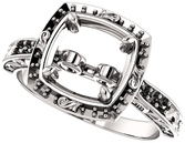 Round Sculptural Inspired Engagement Ring Mounting for 4.10 mm - 8.20 mm Center - Customize Metal, Accents or Gem Type