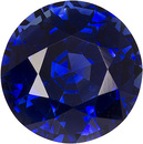 Unique GRS Certified Deep Blue Faceted Sapphire in 6.7mm Round Brilliant Cut, 1.49 carats