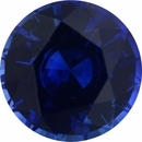 Sharp Sapphire Loose Gem in Round Cut, Vibrant Violet Blue, 7.53 mm, 1.85 Carats