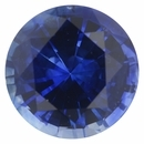Low Price On Sapphire Loose Gem in Round Cut, Medium Violet Blue, 7.2 mm, 1.64 Carats