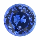Beautiful Loose Blue Sapphire Gem in Round Cut, Violetish Blue, 5.93 mm, 0.93 carats