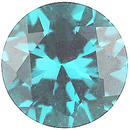 Imitation Blue Zircon Round Cut Gems