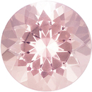 Morganite Gems in Round Cut - Calibrated Sizes