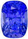 Elegant Sapphire Loose Gemstone in Cushion Cut, Rich Intense Blue, 7.7 x 5.5 mm, 2.05 carats