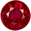 Hard to Find Quality & Size in Super Fine Ruby Loose Gem in Round Cut, Stunning Intense Red Color in 7.0 mm, 1.85 carats