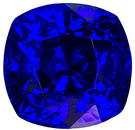 Intense Blue Super Gem Ceylon Sapphire in Cushion Cut,in 6.9 x 6.7 mm, 1.92 carats - With GIA Certificate