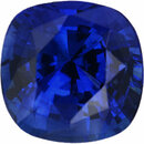 Real Sapphire Loose Gem in Antique Square Cut, Vibrant Violet Blue, 6.39 x 6.34  mm, 1.42 Carats