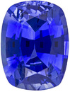 Rich Sapphire Loose Gem in Cushion Cut, Vivid Blue, 6.2 x 4.7 mm, 0.87 carats