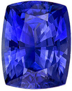 Superb Ceylon Blue Sapphire Gemstone in Cushion Cut, Rich Open Blue Color in 10.3 x 8.1 mm, 4.30 carats