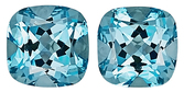 The BEST Pair of Phenomenally Beautiful Aquamarine Natural Gemstones for SALE, Antique Cushion Cut, 3.2 carats, - SOLD