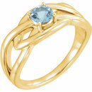14 Karat Yellow Gold Aquamarine Ring