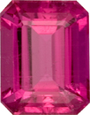 Faceted Rubellite Tourmaline Genuine Loose Gem, Vibrant Pinkish Red in 10.3 x 8.1 mm, 3.52 carats - SOLD
